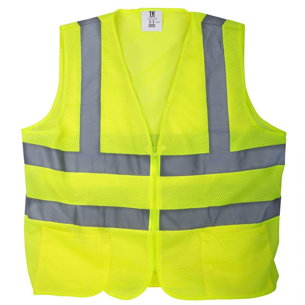 Yellow Mesh Reflective Safety Vest Safety Winter Jackets In Dubai